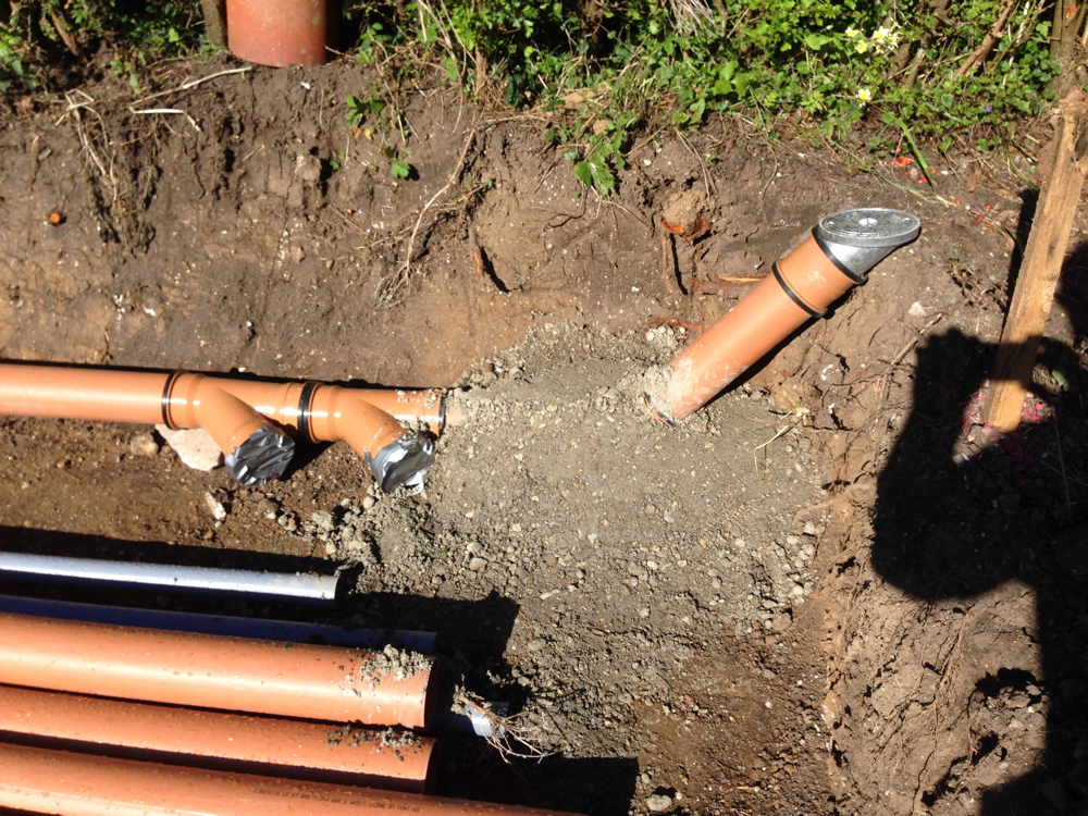 Rodding point for surface water drainage