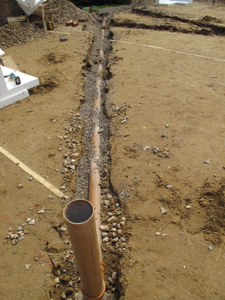 Drainage under slab