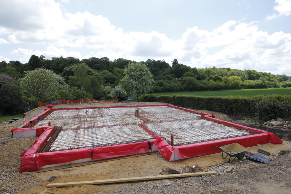 Slab ready for concrete pour