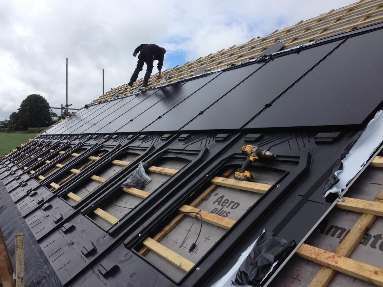 Solar P.V. installation